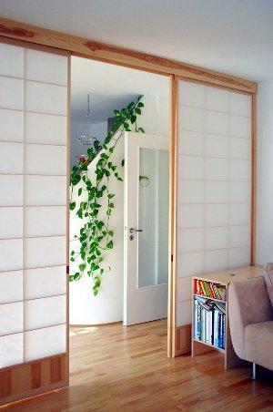 Japanische Trennwände shoji japanische schiebetüren mit japanpapier bespannt takumi